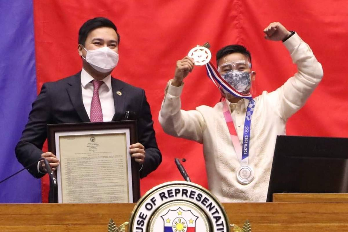 Tokyo-2020-Congress-Lord-Velasco-x-Nesthy-Petecio Congress gives Medal of Excellence to Hidilyn Diaz 2020 Tokyo Olympics Boxing News Weightlifting  - philippine sports news